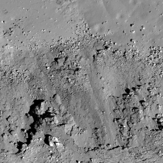 LRO image of copernican-aged craters