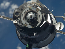 ISS022-E-014370 -- The Soyuz TMA-17 spacecraft