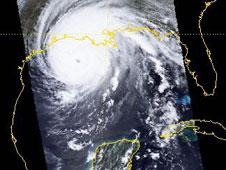 Hurricane Rita seen by PARASOL on September 23, 2005. Credit: CNES