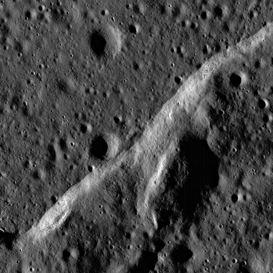 LRO image of wrinkle ridge area in Mare Imbrium