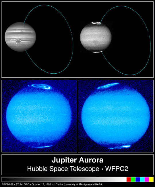 Sharply-detailed Hubble Space Telescope views of Jupiter's auroras