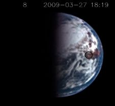 image of the earth from the Deep Impact probe