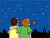 Stargazers look for the brightest star