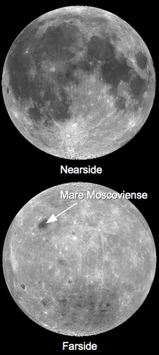 mosaic images showing moon's near and far sides