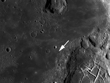 LRO image of region within Mare Moscoviense