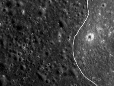 LRO image of mare-highlands boundary in Mare Moscoviense on the lunar farside