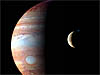 Montage of New Horizons images shows Jupiter and its volcanic moon, Io