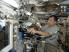 Japan Aerospace Exploration Agency (JAXA) astronaut Soichi Noguchi