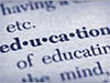 The word 'education' in a dictionary