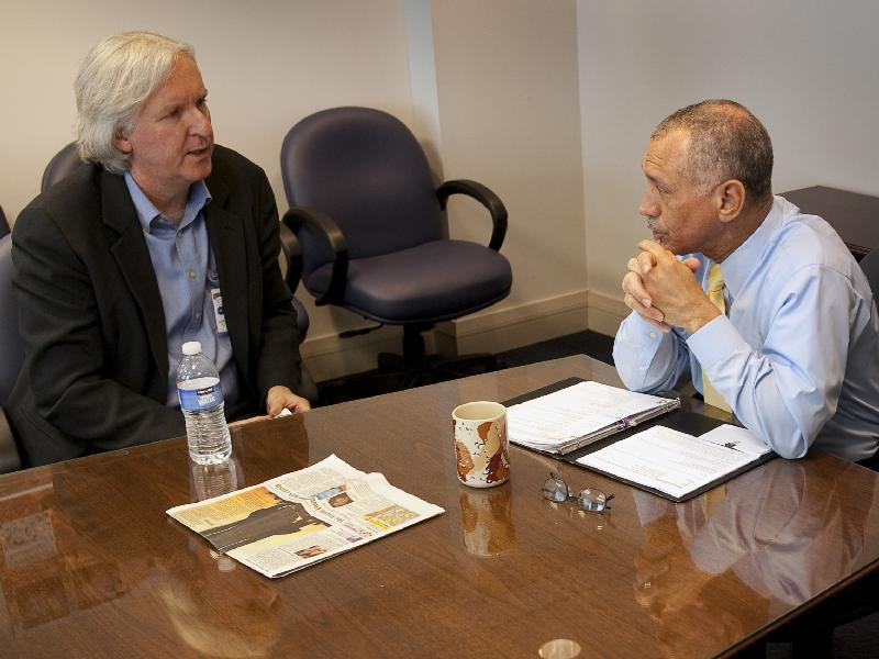 NASA Administrator Charles Bolden Meets Award-Winning Director James Cameron