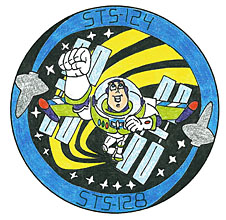 A mission patch designed by Adam