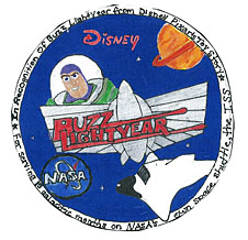 A mission patch designed by Michaela Jo