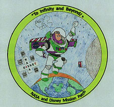 A mission patch designed by Stephen