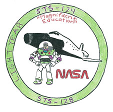 A mission patch designed by Elliot