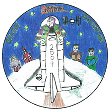 A mission patch designed by Collin