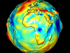 An Earth dataset showing topography