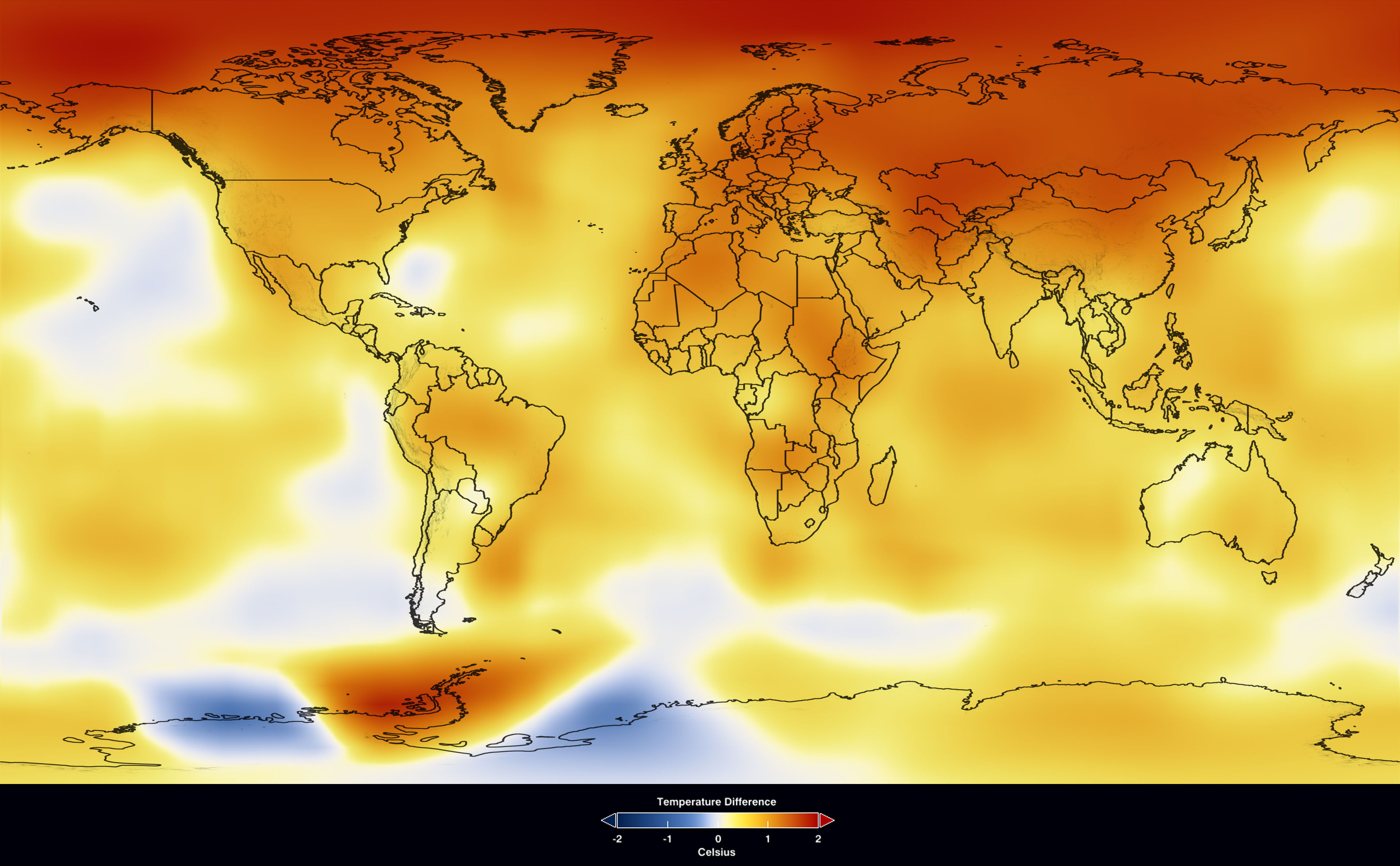 Nasa 2009 second warmest year on record end of warmest decade larger view gumiabroncs Images