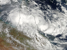 NASA's Aqua satellite captured an image of Tropical Cyclone Olga on January 24 at 4:10 UTC.