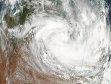 New images of Tropical Storm Olga captured by MODIS