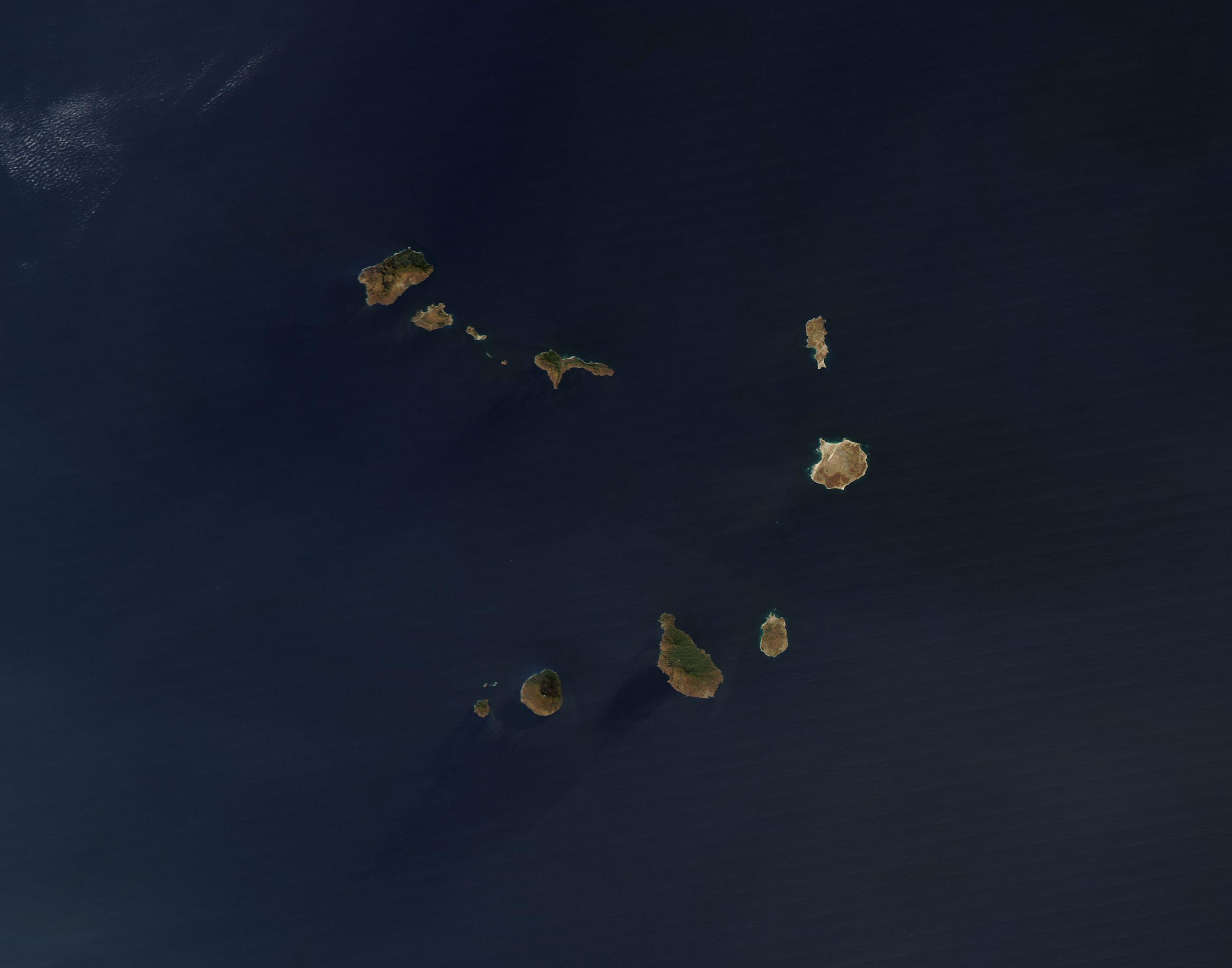 Cabo Verde visto do espaço