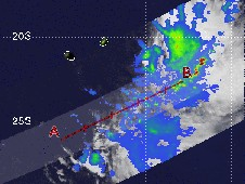 Tropical Depression 11S's rainfall, as it was centered east of La Reunion Island.