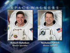 Spacewalkers Robert Behken and Nicholas Patrick