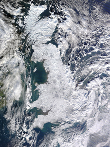 A historic snowfall blanketed Great Britain on Jan. 7, 2010.