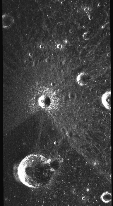Asymmetric crater in Mare Nubium