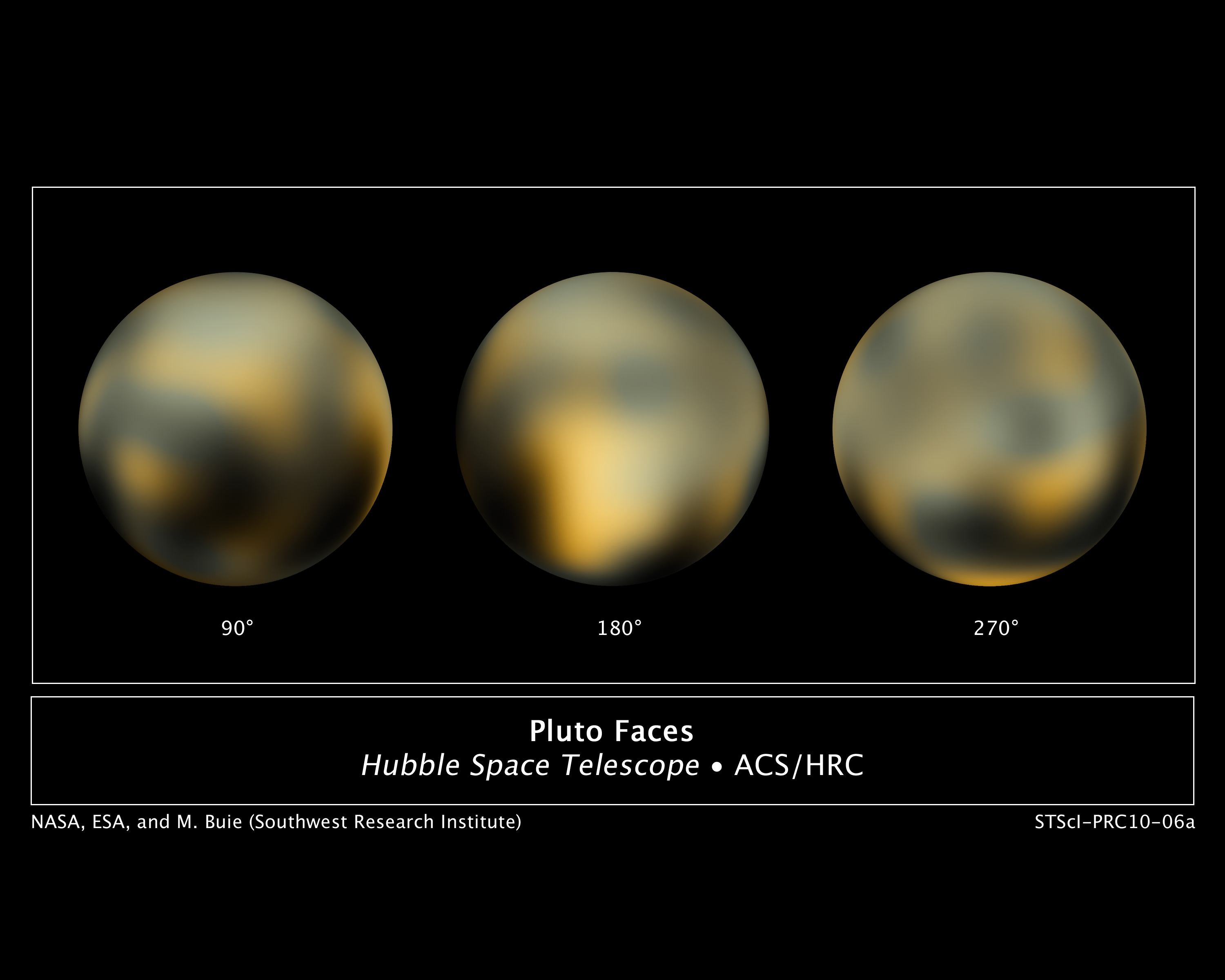NASA - New Hubble Maps of Pluto Show Surface Changes