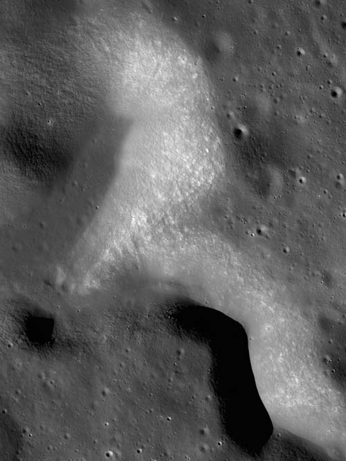 Portion of NAC Image M104554343R just to the south of the region of interest detailing a portion of Rimae Plato.