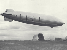 The Navy's USS Macon before it crashed in 1935.