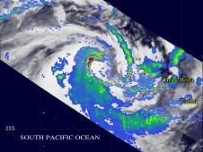 Oli's rain bands were causing additional rainfall in distant Bora Bora and Tahiti.