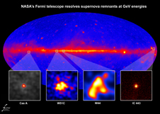 Fermi's Large Area Telescope resolved GeV gamma rays from supernova remnants of different ages and in different environments. W51C, W44 and IC 443 are middle-aged remnants between 4,000 and 30,000 years old