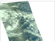 Tropical Cyclone Pat as it was about 200 miles from Raratonga on February 9.