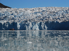 Calving front of Equp Sermia glacier, West Greenland.