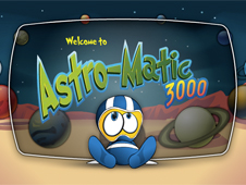 Planets revolving behind Astro-Matic 3000
