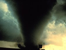This tornado was captured on film south of Dimmitt, Texas on June 2, 1995