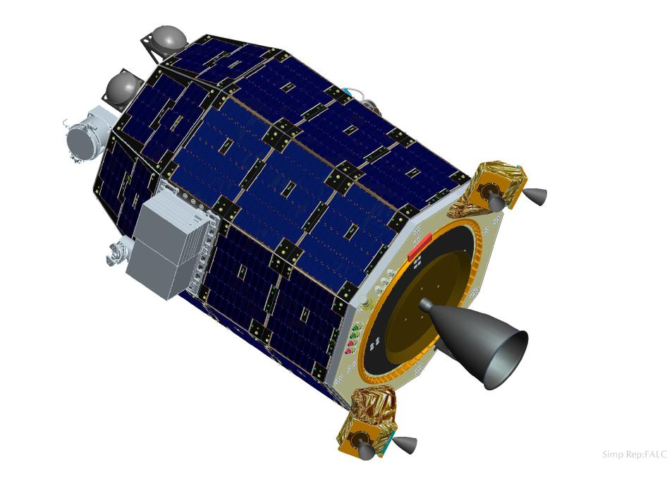 Artist's rendering of the LADEE spacecraft.