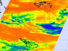 The AIRS instrument on NASA's Aqua satellite captured a very weak Rene on Feb. 16 at 13:29 UTC.