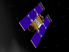 Artist rendering of Stardust-NExT spacecraft