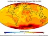 Map of surface air temperature increase from 1960 to 2060