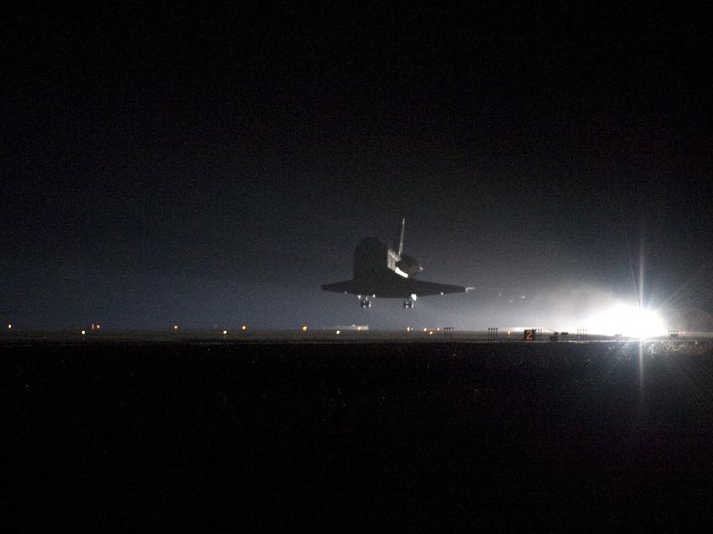 Space Shuttle Landing With Landing Gear Down Space