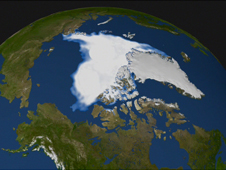 data-based image of the north polar ice cap