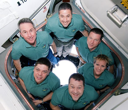 s130e010533 -- STS-130 crew members