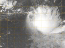 The GOES-11 satellite captured in infrared image of 17P's clouds and the storm appears to be getting re-organized.
