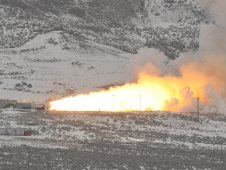 Final test firing of reusable solid rocket motor FSM-17 on Feb. 25 in Promontory, Utah