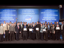 image of winners of the 2009 Centennial Challenges Awards