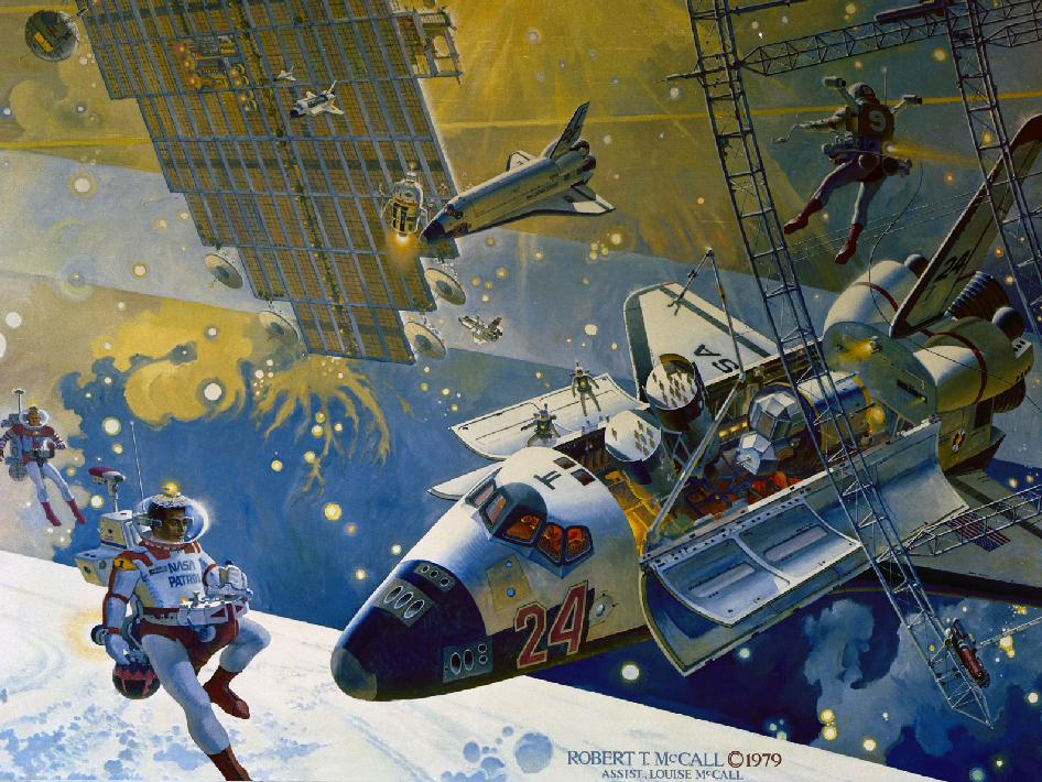 JSC mural by Robert McCall