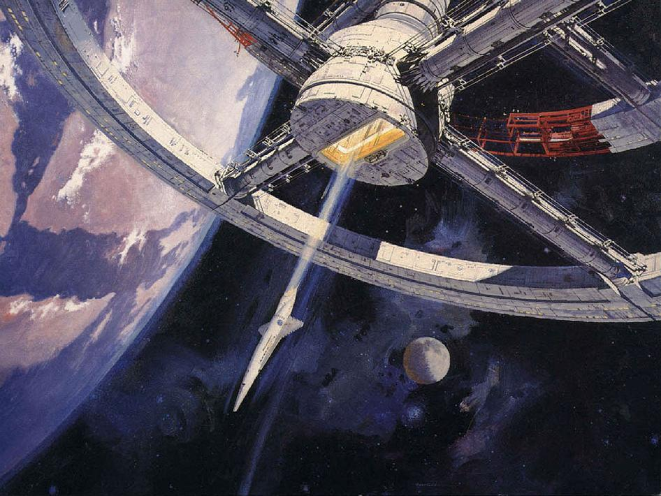Robert McCall artwork used for the film 2001: A Space Odyssey