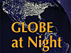 North America as seen at night from space with the words Globe at Night